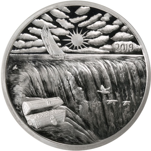 2019 1oz Silverbug Island Ends Of The Earth SILVER ANTIQUED PROOF 777 SILVERBUGS