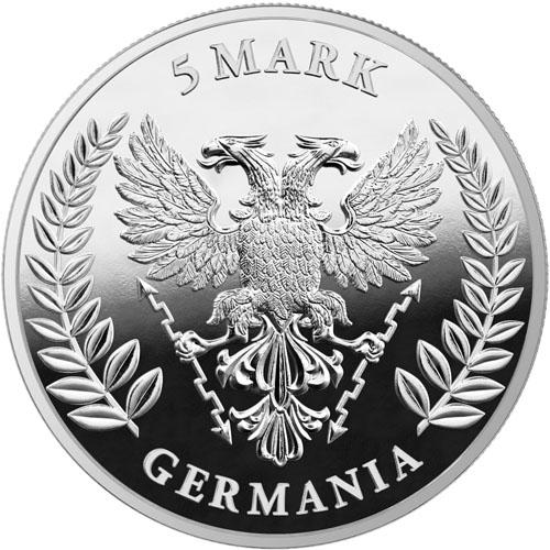COA IN STOCK GERMANIA 2020-5 Mark 1 oz Pure Silver BU COIN Round in Capsule