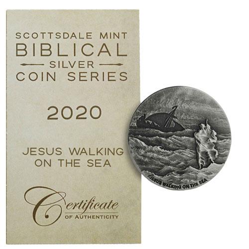 Bible Story 2020 Jesus Walks on water  2 oz .999 silver coin Biblical series