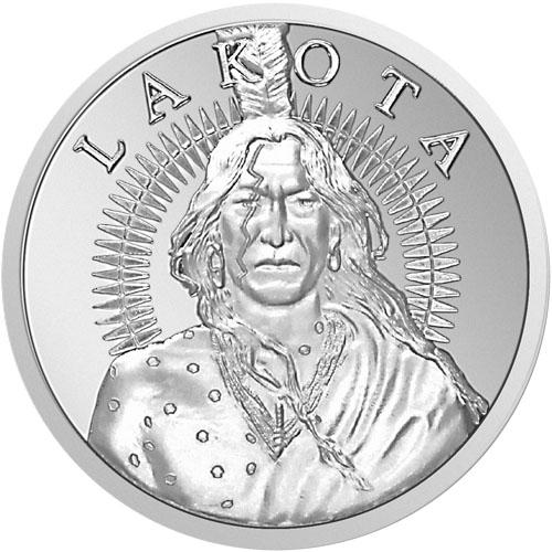Lakota CRAZY HORSE art rounds .999 fine silver 1 oz