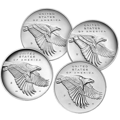 Anniversary-Silver Four-Medal Set     COA /& BOX 2017 American Liberty 225TH
