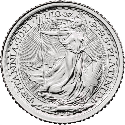 2021 Great Britain Gold Britannia 1//10 oz Gold £10 Coin GEM BU