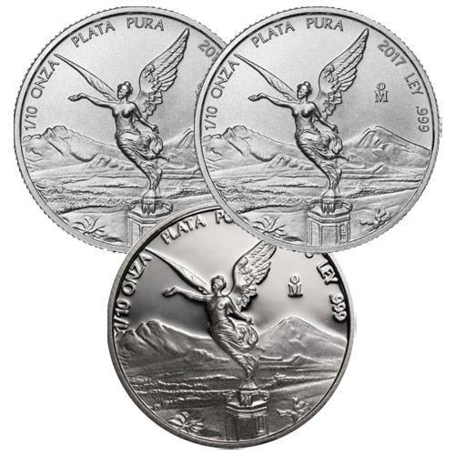 1 oz 1//2 1//4 1//10 1//20  BU Mexico Plata Pura 5 Coins 2017 Silver Libertad Set